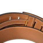 Hermes Gürtel braun mit goldener Hardware 1 Kopie