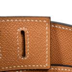 Hermes Gürtel braun mit goldener Hardware 2 Kopie