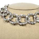 Balenciaga crystal collier necklace white Kopie