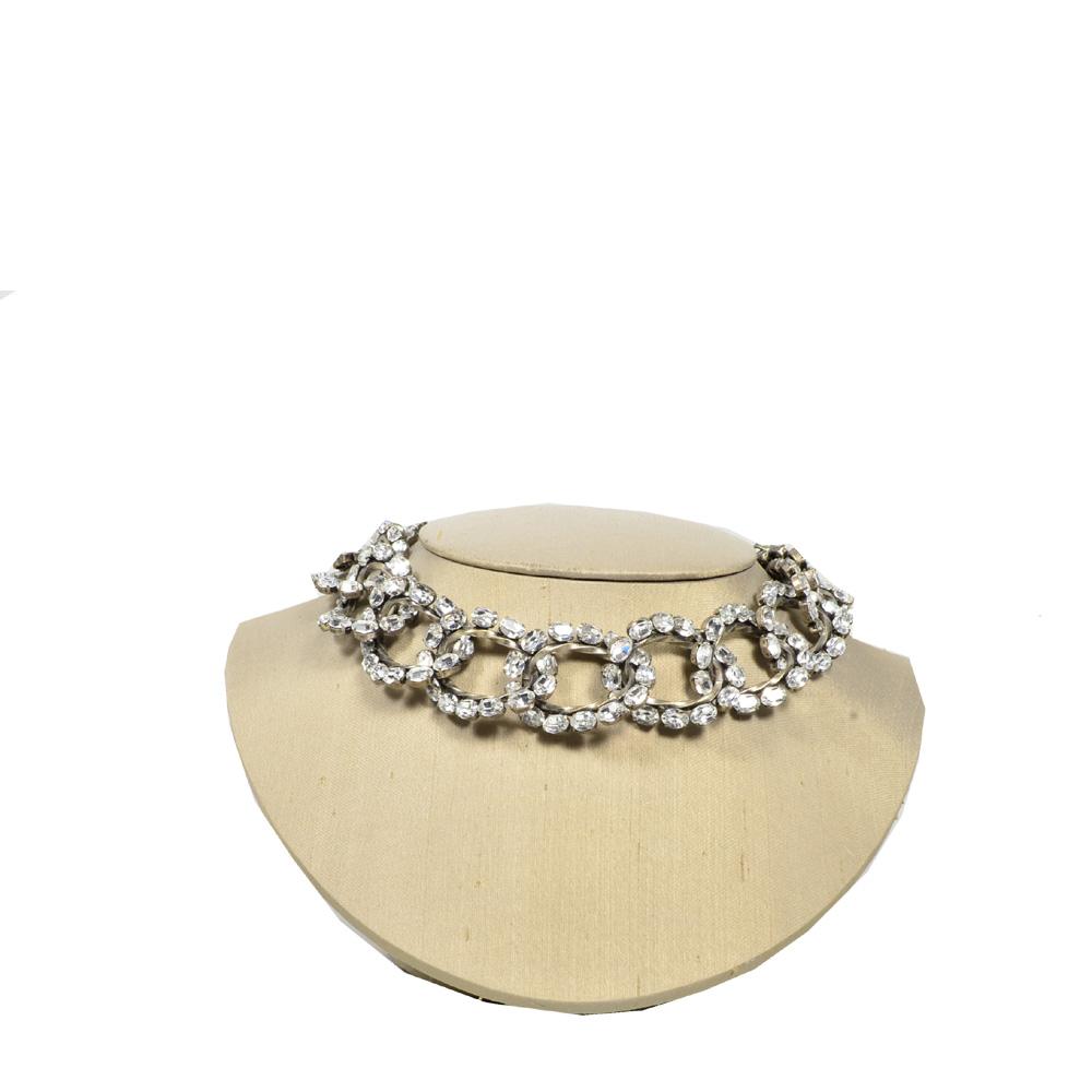 Balenciaga crystal collier necklace white2 Kopie