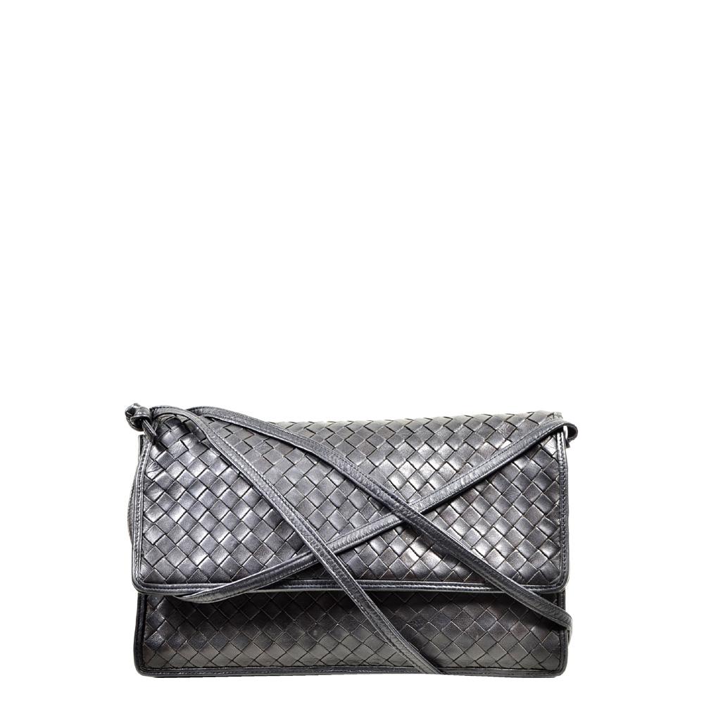 Bottega Veneta crossbody bag black braided_1 Kopie