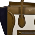 Celine Luggage Mini mini buckskin leather khaki blue white_4 Kopie