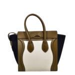 Celine Luggage Mini mini buckskin leather khaki blue white_5 Kopie