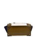 Celine Luggage Mini mini buckskin leather khaki blue white_7 Kopie