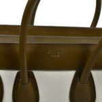 Celine Luggage Mini mini buckskin leather khaki blue white_8 Kopie