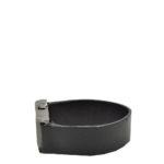 Chanel bracelet leather black silver2 Kopie