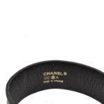 Chanel bracelet leather black silver4 Kopie
