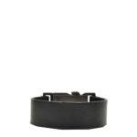 Chanel bracelet leather black silver5 Kopie