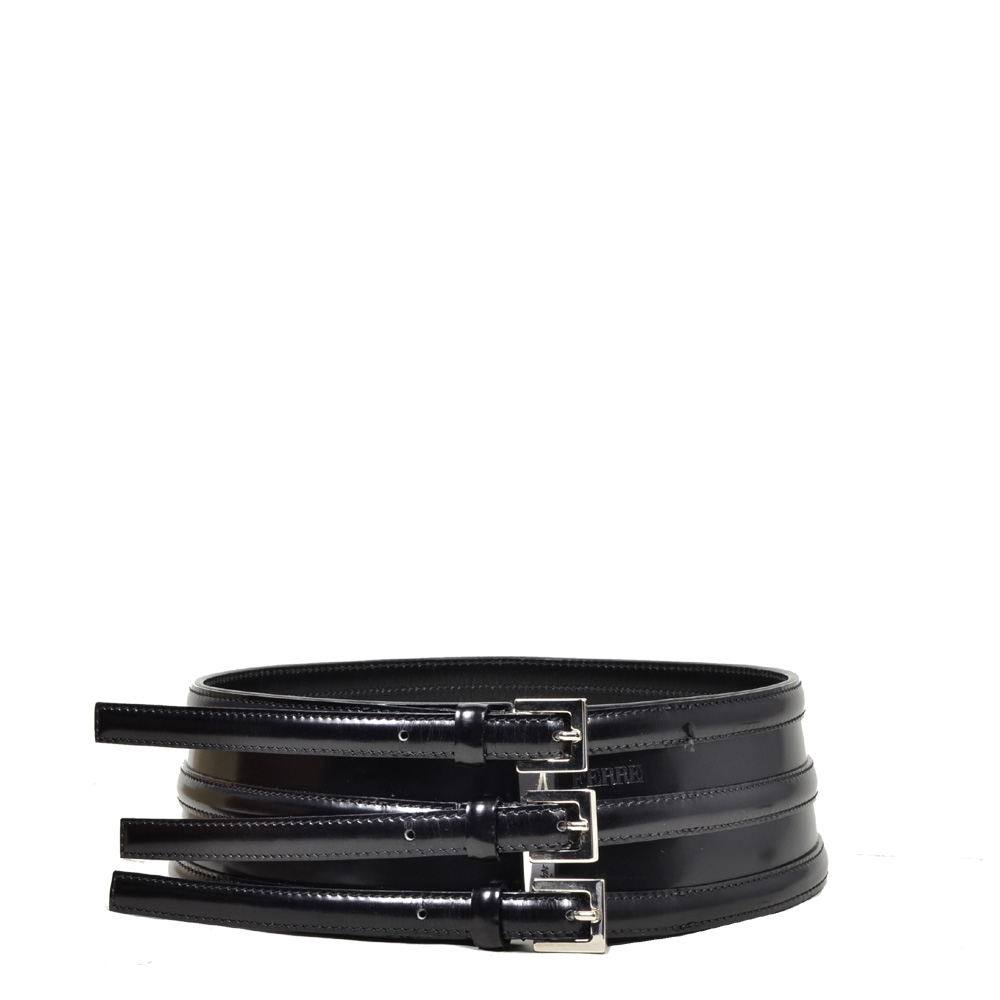Gianfranco Ferre leather belt black size 9 Kopie