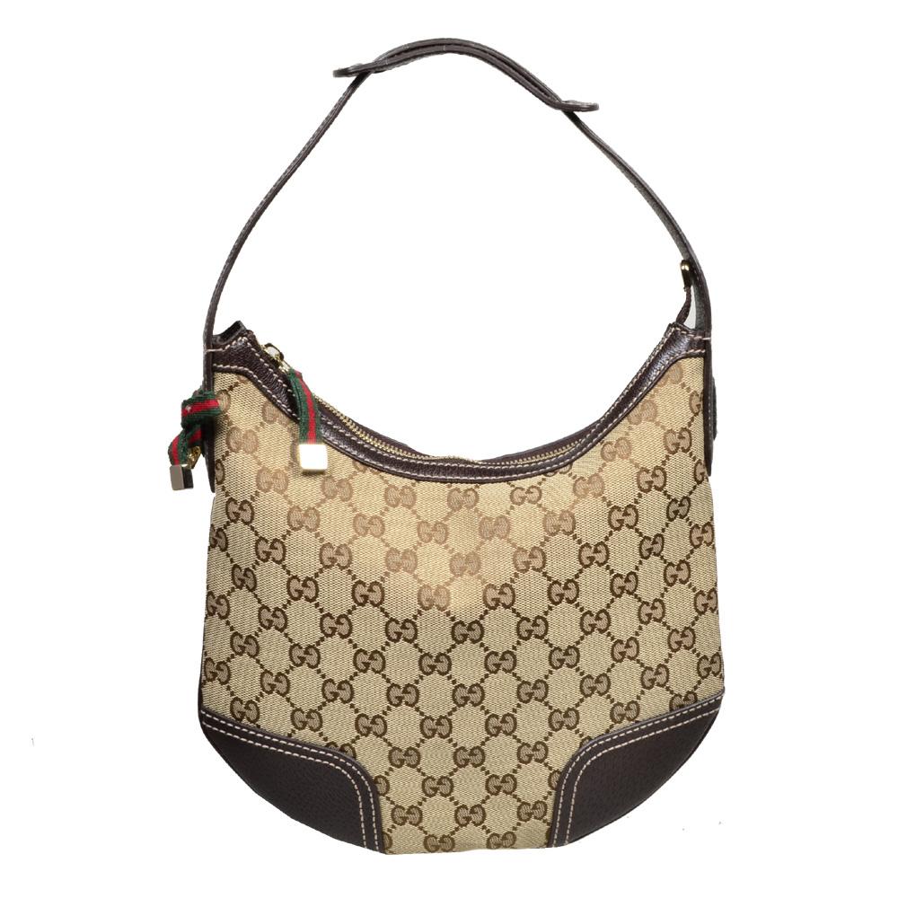 Gucci hobo supreme mini gg canvas beige gold5 Kopie