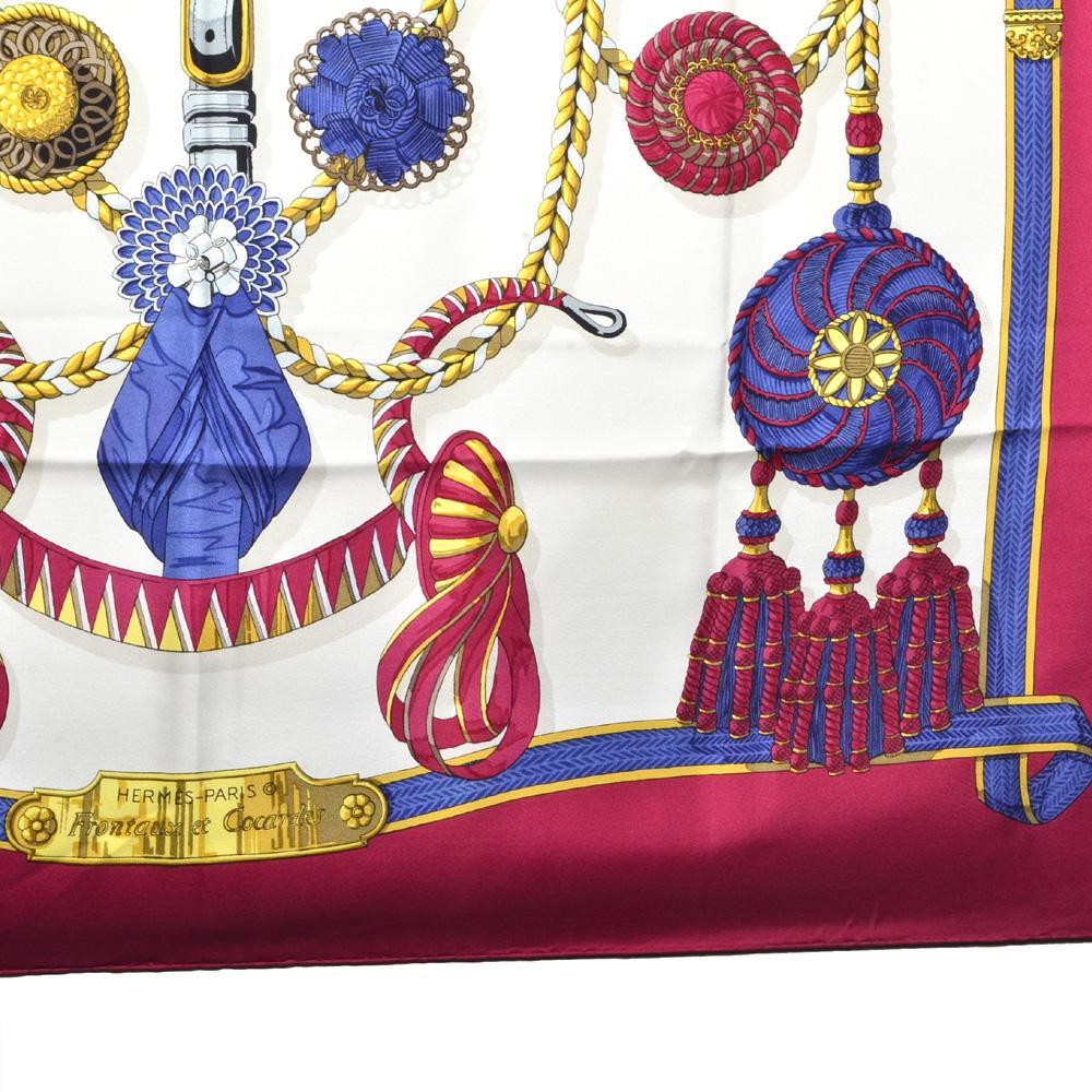 49cdafb1d30a ewa lagan - Hermès Carre 90×90 100 % Silk frontaux et cocardes fuchsia