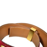 Hermès Collier de Chien belt small Epsom rouge vif gold_2 Kopie