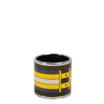 Hermes Carre Ring Anneau Email Sans Plomb Rocabar PL brown blue yellow3 Kopie