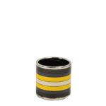 Hermes Carre Ring Anneau Email Sans Plomb Rocabar PL brown blue yellow4 Kopie