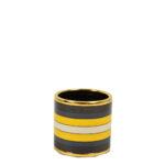 Hermes Carre Ring Anneau Email Sans Plomb Rocabar gold brown blue yellow Kopie