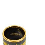 Hermes Carre Ring Anneau Email Sans Plomb Rocabar gold brown blue yellow2 Kopie