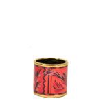Hermes Carre Ring Anneu Email gold Sans Plomp Brazil red brazil_2 Kopie