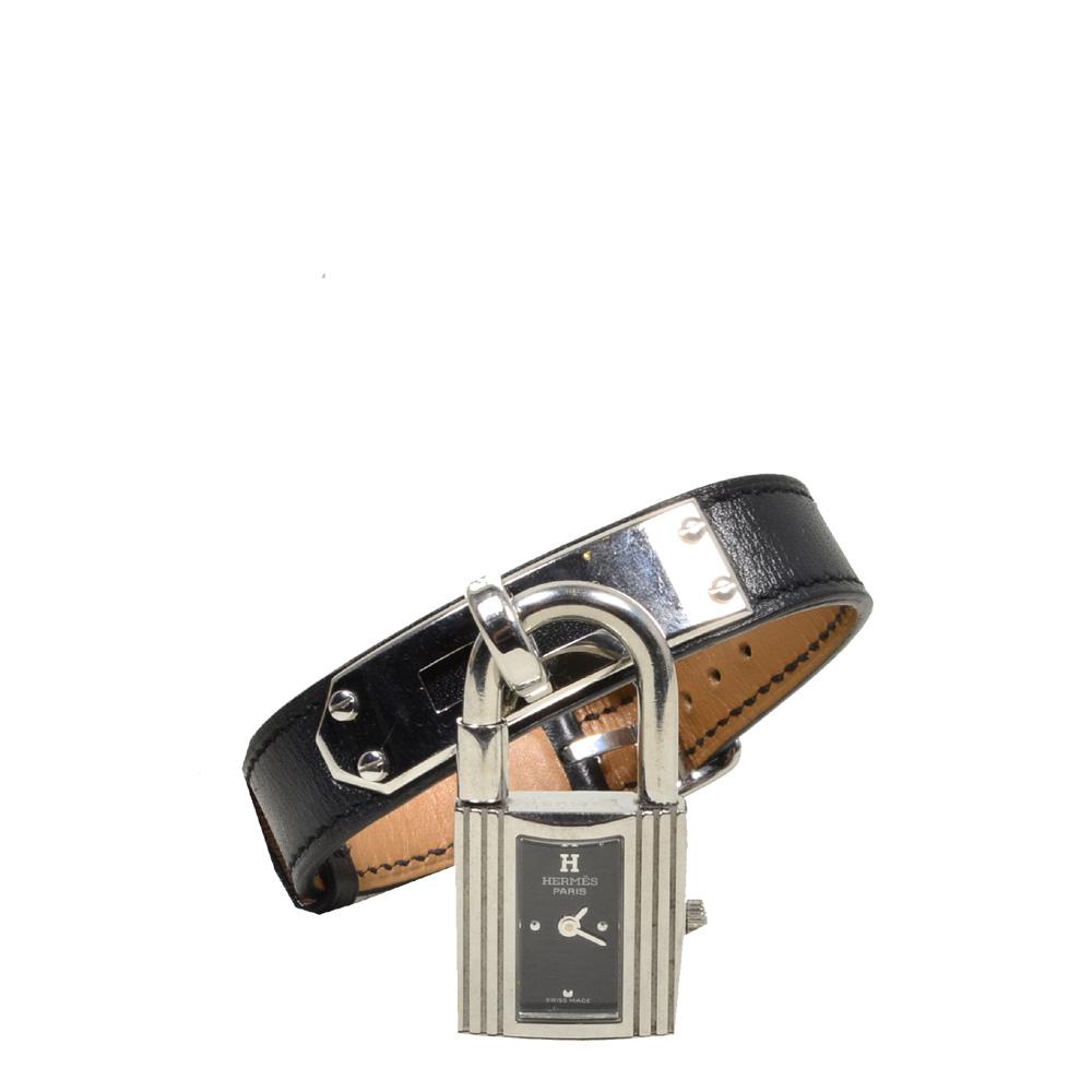 Hermes Kelly MM watch box noir steel_2 Kopie