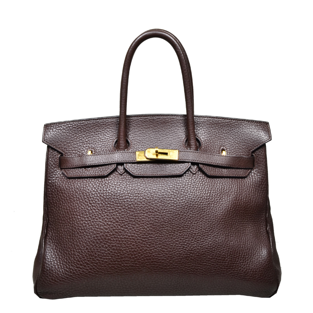 Hermes birkin 35 Fjord leather brown gold 6 Kopie