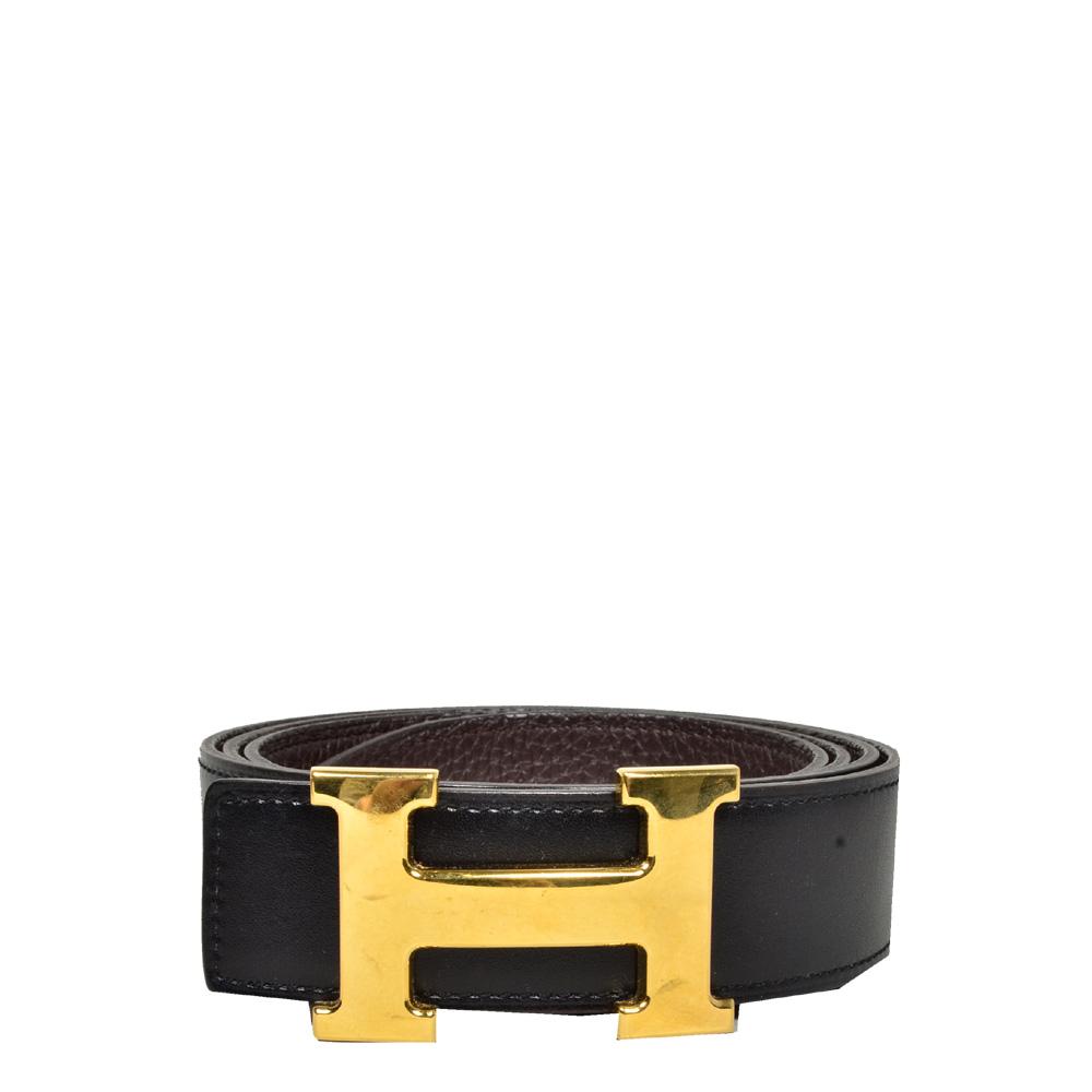 Hermes_h-belt_box_noir_clemence_brune_gold_size 110_5 Kopie
