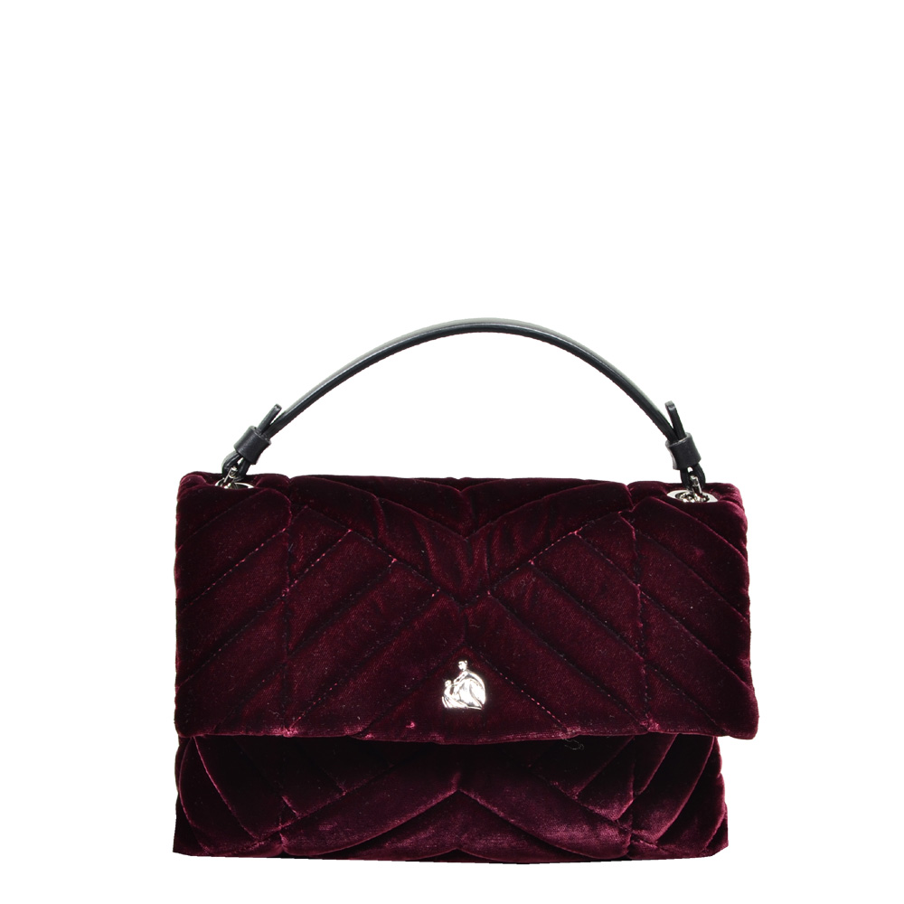 Lanvin Plum Velvet Sugar Bag bordeaux5 Kopie