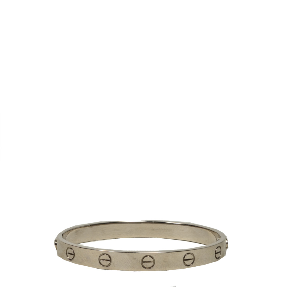 Cartier Love Bracelet White Gold Size 16 23 Kopie