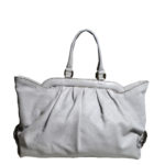Fendi shopper bag grey blue leather 6 Kopie