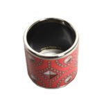 Hermés carre ring Emaile coral palladium patterned_2 Kopie
