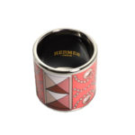 Hermés carre ring Emaile coral palladium patterned_3 Kopie