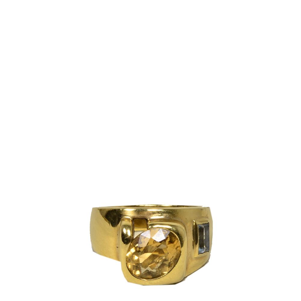 Mandredi ring Mafredi gold Citrine Aquamarin6 Kopie
