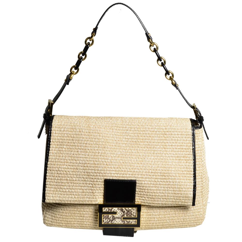 cdb2148762b0 ... closeout ewa lagan fendi bag big mama natural straw patent leather  black archives b4062 9ffb6 ...