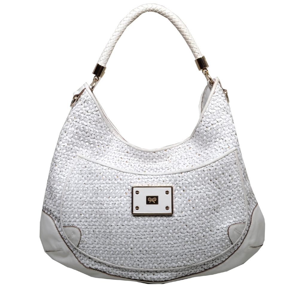 Anya Hindmarch hobobag leather offwhite gold 8 Kopie