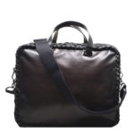 Bottega Veneta Messenger leather dark brown 1 Kopie