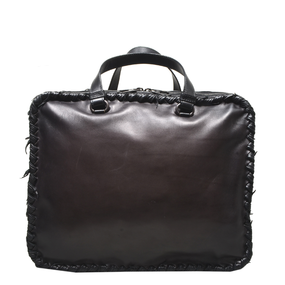Bottega Veneta Messenger leather dark brown 9 Kopie