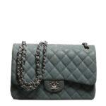Chanel timeless classic 30 caviar leather mint silver 1 Kopie – Kopie