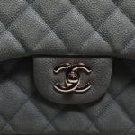 Chanel timeless classic 30 caviar leather mint silver 2 Kopie – Kopie