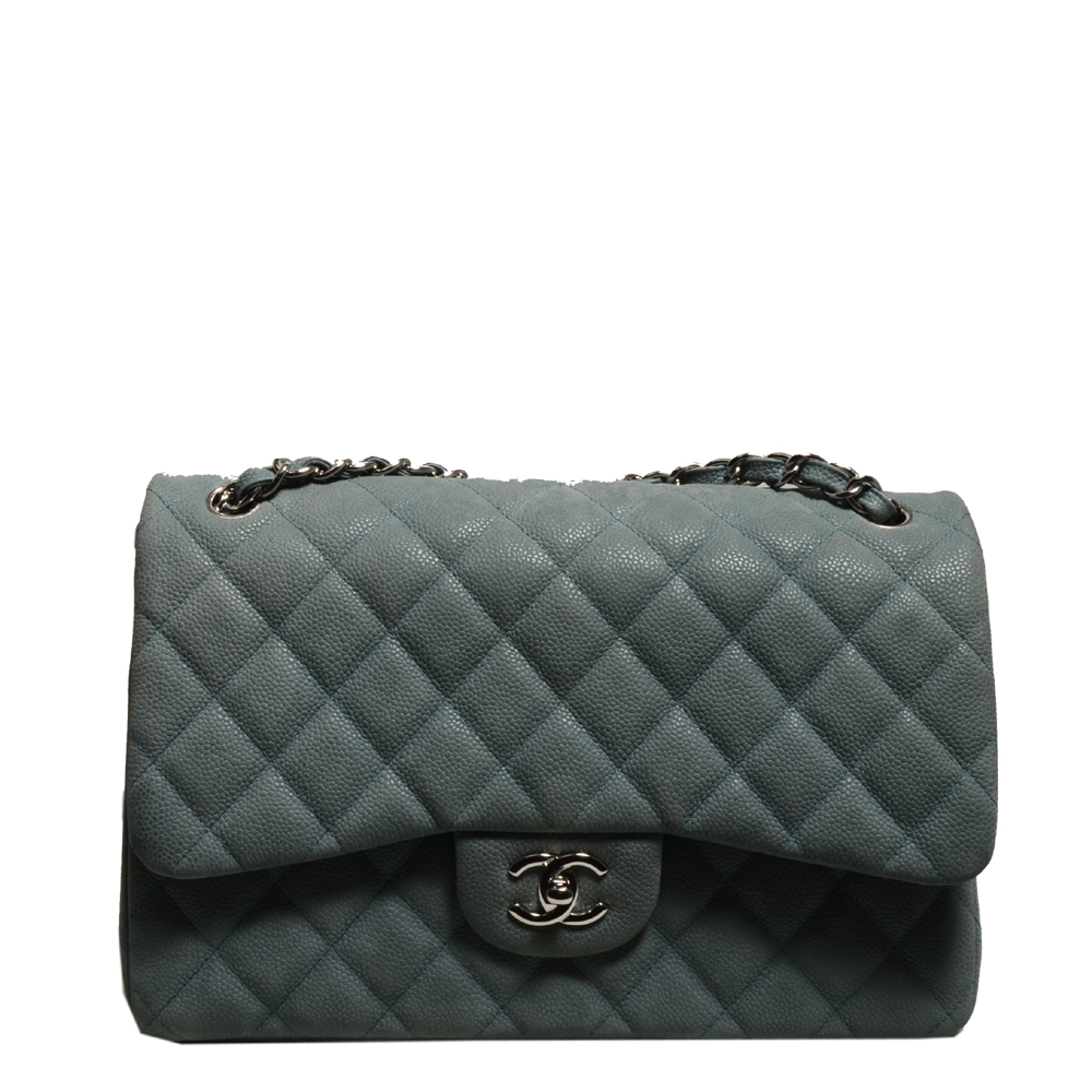 Chanel timeless classic 30 caviar leather mint silver 4 Kopie