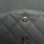 Chanel timeless classic 30 caviar leather mint silver 6 Kopie