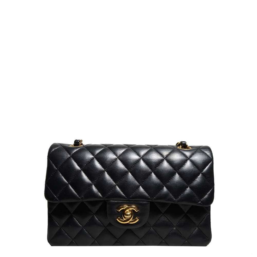 Chanel timeless classic black nappaleather gold 3 Kopie