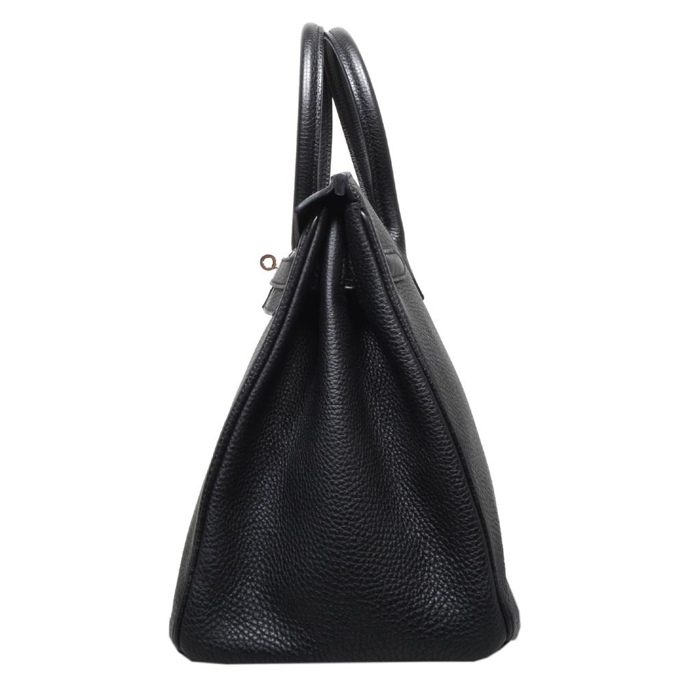 0180717271e Hermés Birkin 35 Black Togo Leather Palladium - ewa lagan