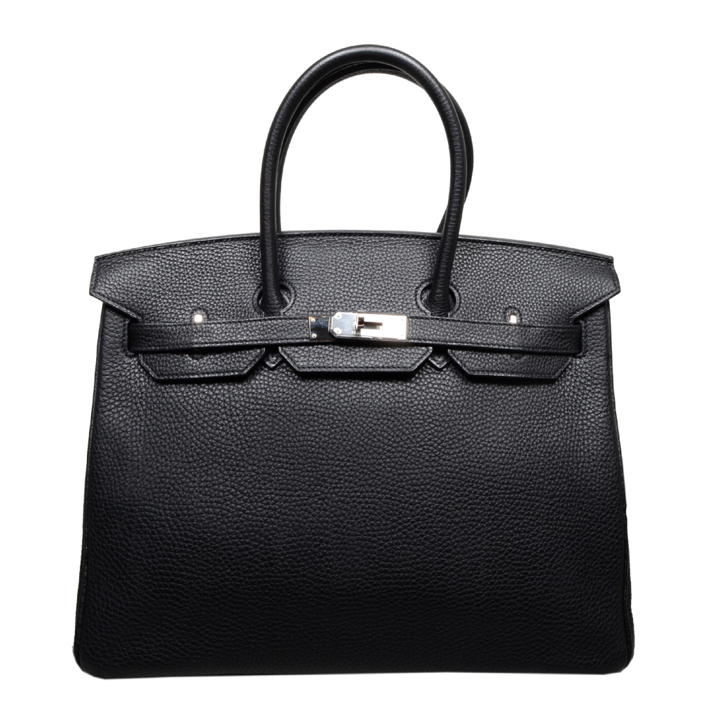 Hermes Birkin 35 black togo leather palladium_8 Kopie