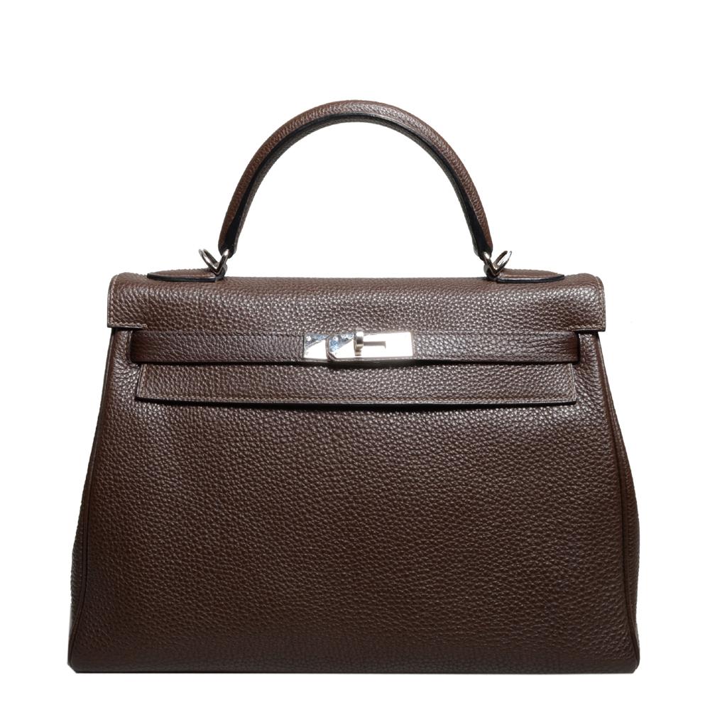 Hermes Kelly 35 togo leather brown retourne 1 Kopie