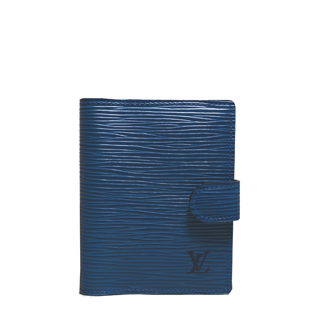 Louis Vuitton Agenda mini Epi leather blue black_10 Kopie