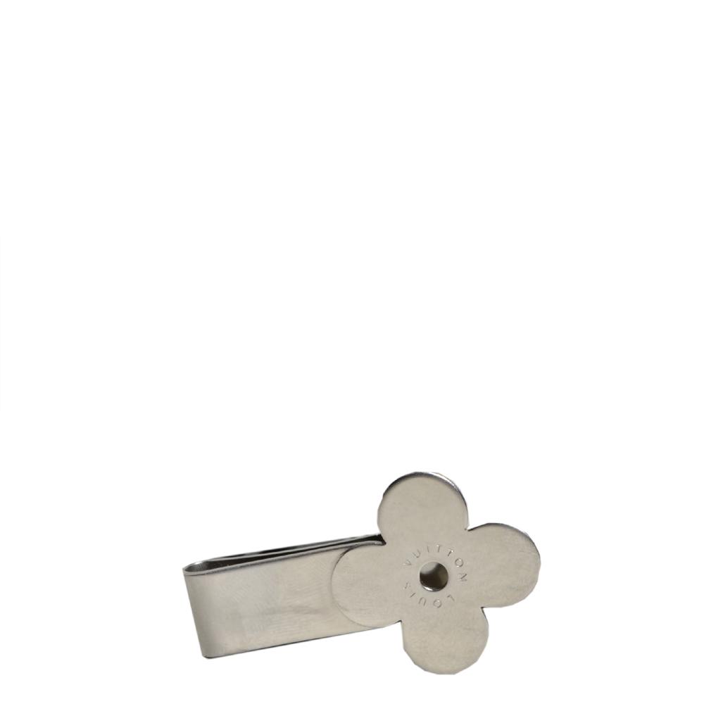 Louis Vuitton money clip monogram flower metal silver Kopie