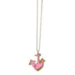 Louis Vuitton necklace marine anchor pink gold2 Kopie