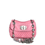 Miu Miu bag rose smoked nappaleather chain silver stones_11 Kopie