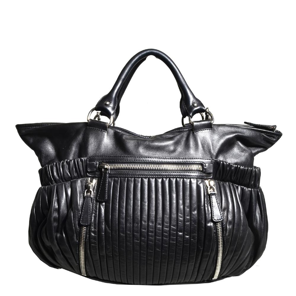 Miu Miu shoulderbag black silver leather_1 Kopie