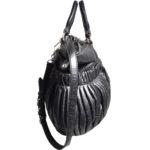 Miu Miu shoulderbag black silver leather_3 Kopie