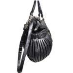 Miu Miu shoulderbag black silver leather_5 Kopie