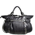 Miu Miu shoulderbag black silver leather_7 Kopie